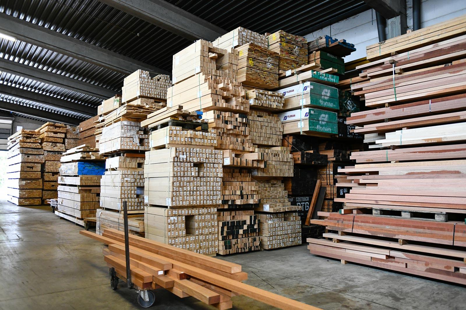 Stockage des bois intérieur